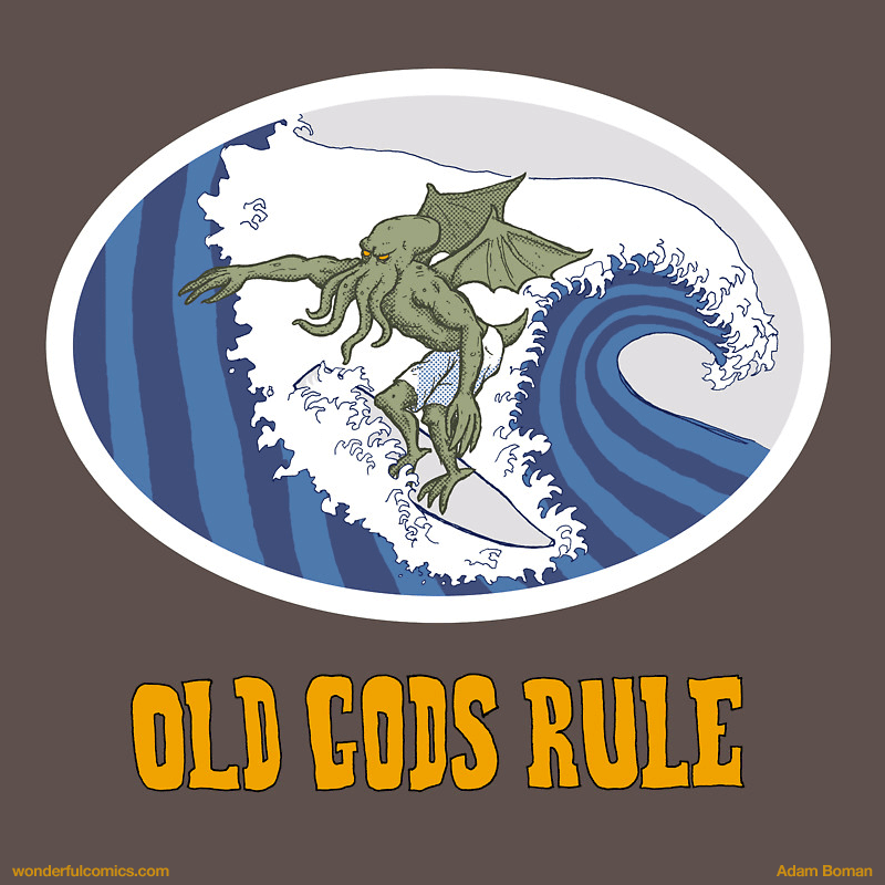 Old Gods Rule print by Adam Boman